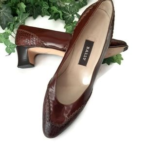 BALLY vintage Ardsley tailored brown pumps